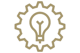 gear and lightbulb icon